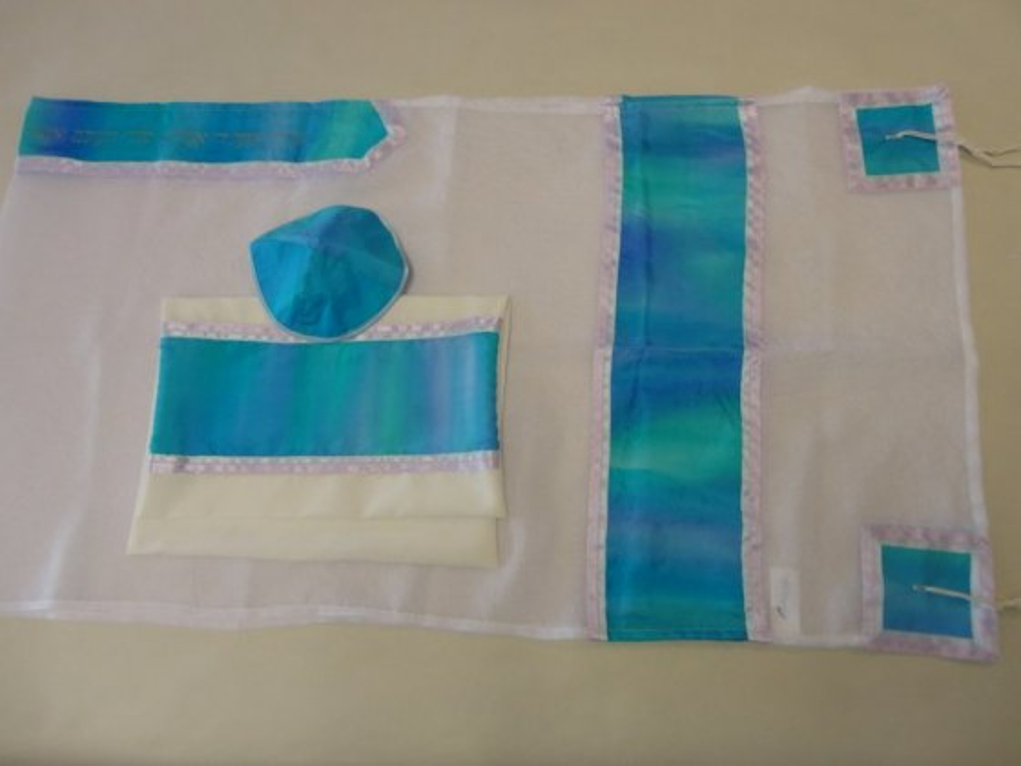 Hand Painted Silk, Tallit Prayer Shawl