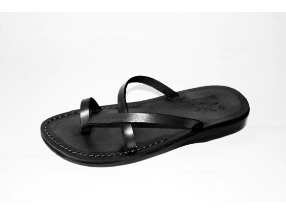 Handmade Leather Flip Flops Sandals with Toes Criss Crossing - Hannah