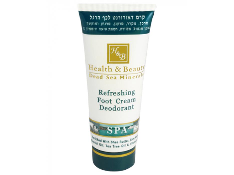 H&B Dead Sea Minerals Refreshing Foot Cream Deodarant, 100 ml tube