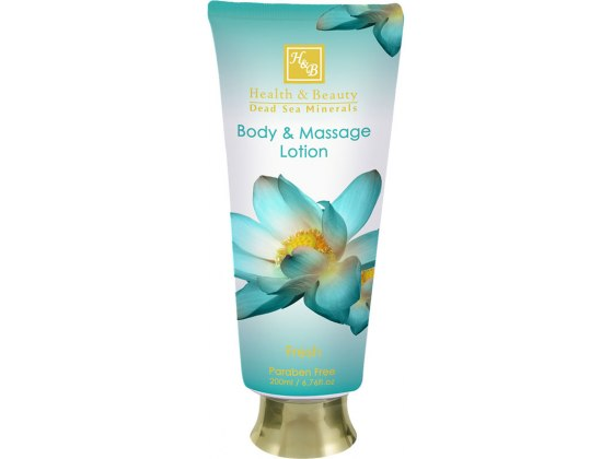 Health and Beauty Dead Sea Cosmetics Fresh Body and Massage Lotion