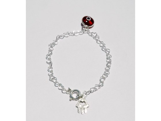 Hearts Hamsa Bracelet for Love and Protection