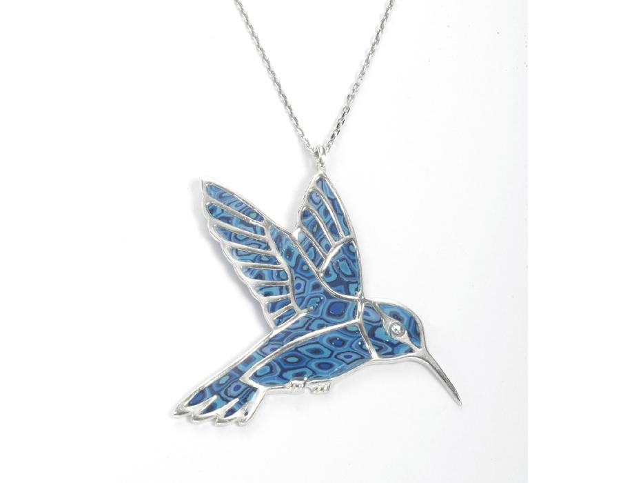Hummingbird Pendant Necklace by Adina Plastelina