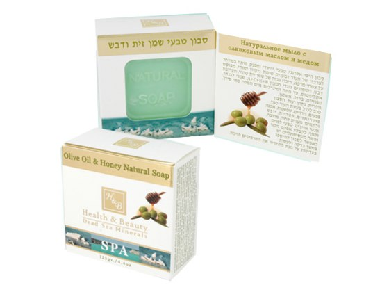 Hypoallergenic Olive Oil & Honey Soap with Dead Sea Minerals