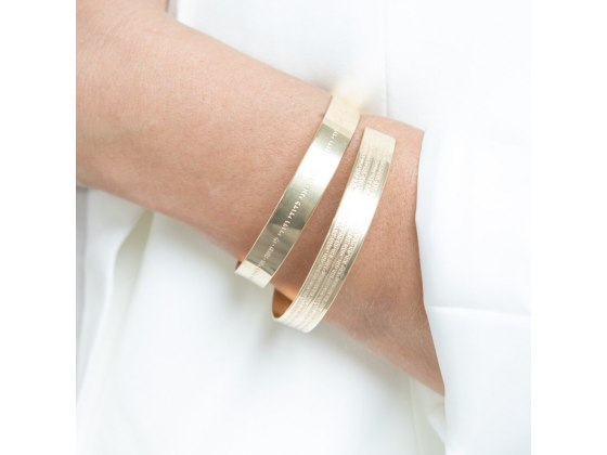 72 Names of God Gold Bangle Bracelet