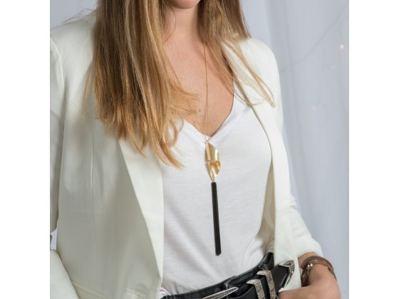 Shema Yisrael Gold Tassel Necklace
