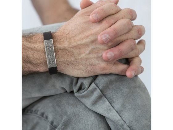 Shir Lama'alot Leather and Silver Bracelet