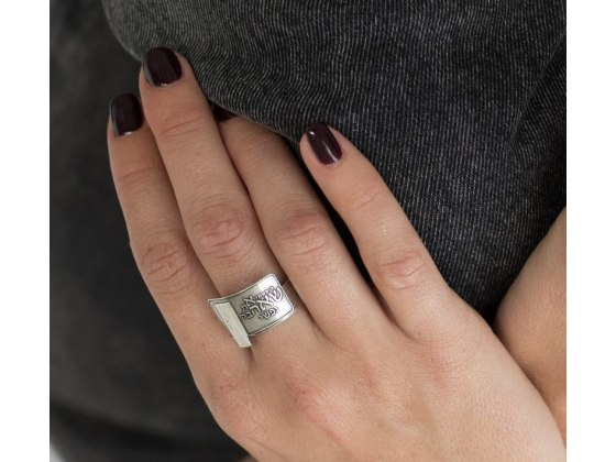 Priestly blessing Silver Fashion Ring