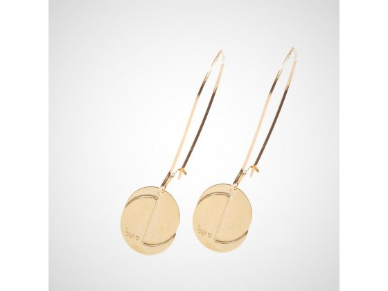 Name of God Gold Hanging Earrings