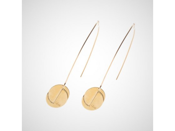 Name of God ALD (אלד) Gold Hanging Earrings