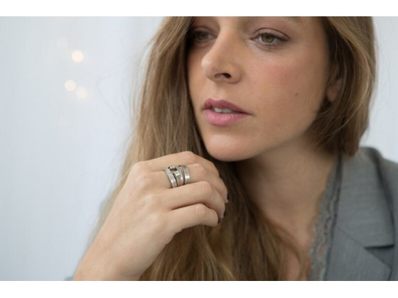 Silver Jewish Blessing Wrap Ring