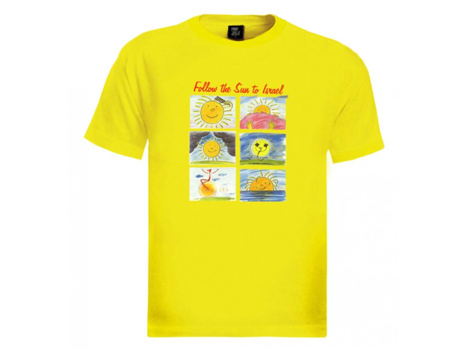 Israel T-Shirt 'Follow the Sun to Israel' (Men)