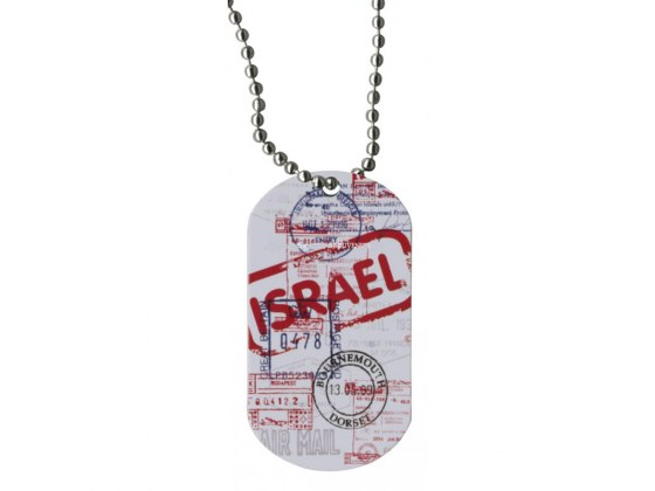 Israeli Passport Dog Tag Necklace