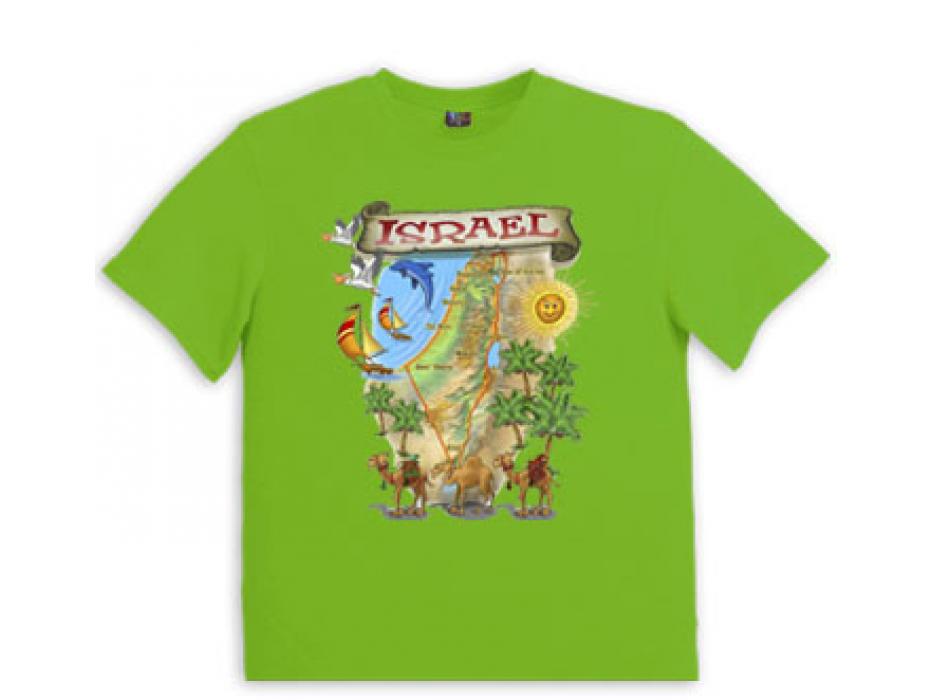 Israeli T Shirt Israel Map