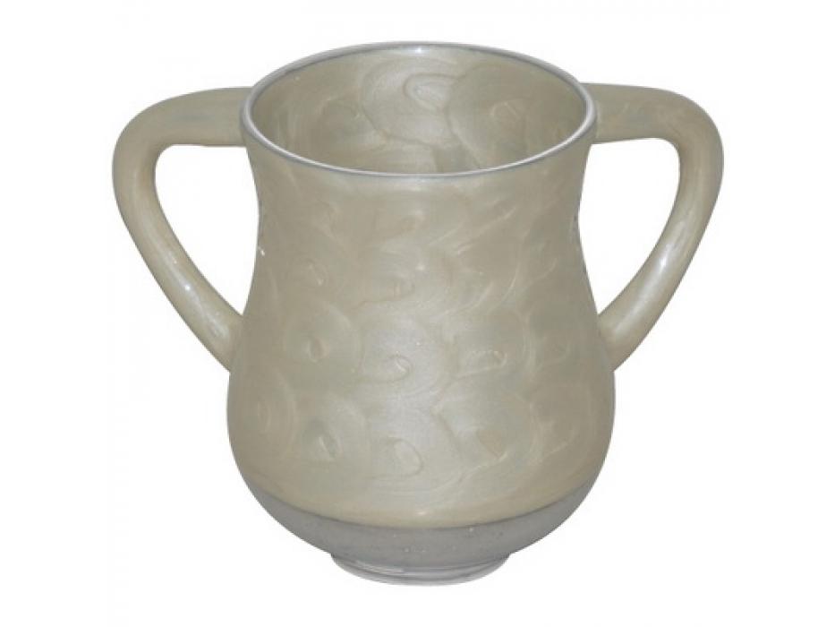 Ivory Aluminum Elegant Washing Cup