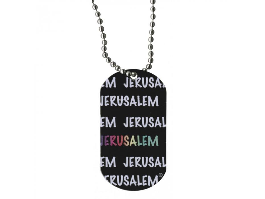 Jerusalem Dog Tag Necklace