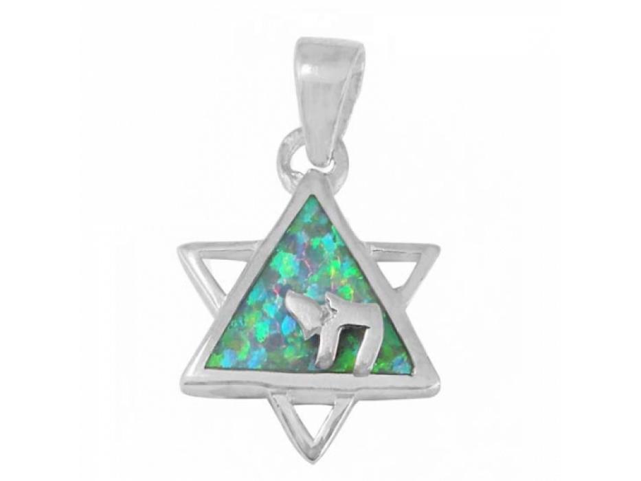 Jewish Symbols Chay & Star of David Necklace