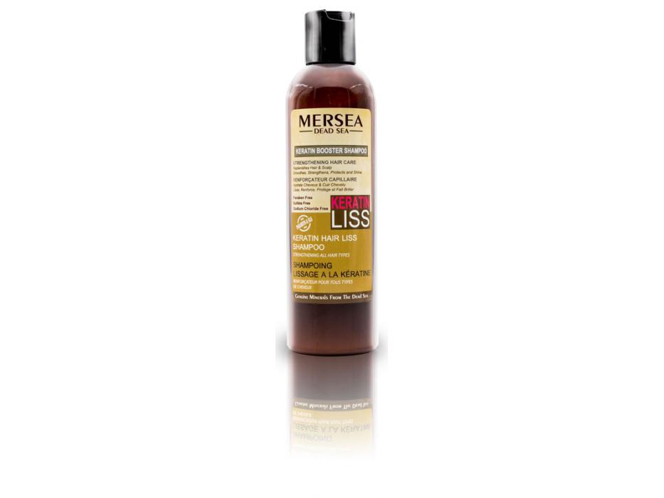 Keratin and Dead Sea Minerals Booster Hair Liss Shampoo