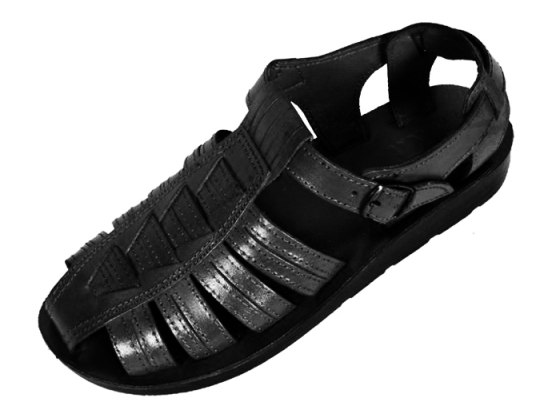 Leather Covered-Toe Fisherman Style Handmade Biblical Sandals - Zebulun
