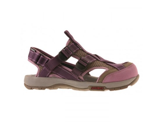 Leather & Mesh Ibex Womens Source Sandal - Side View