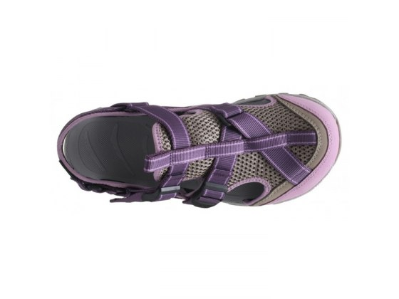 Leather & Mesh Ibex Womens Source Sandal - Top View