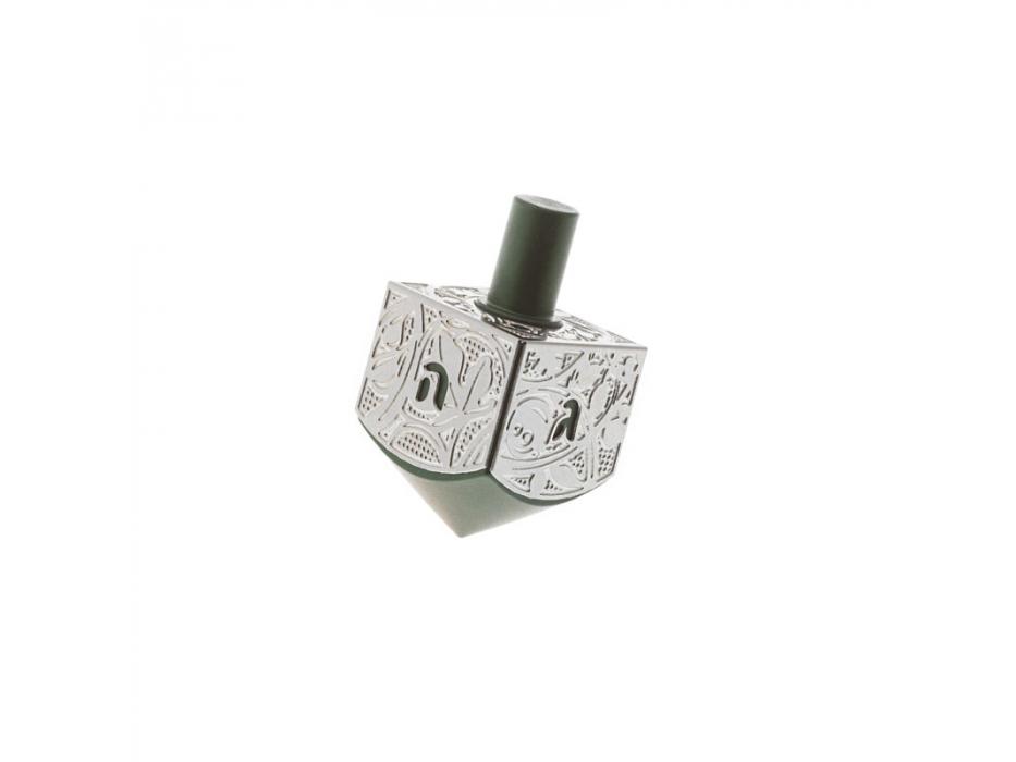 Lev Shneiderman Gray Classic Aluminum Israel Hanukkah Dreidel