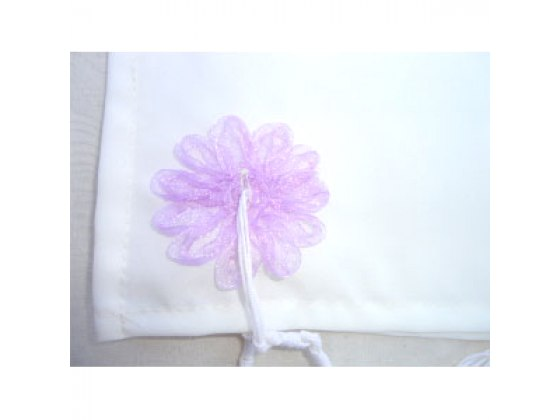 Lilac Floral Embroidered Tallit Prayer Shawl by Galilee Silks