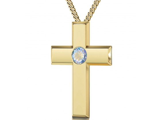 Gold Plated Cross - Opalite