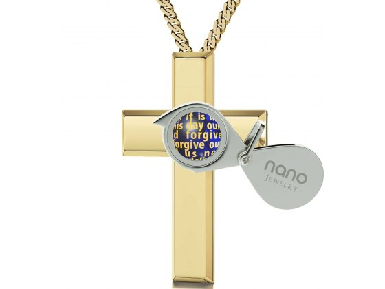 The Lord's Prayer (KJ Version) Gold Plated Cross