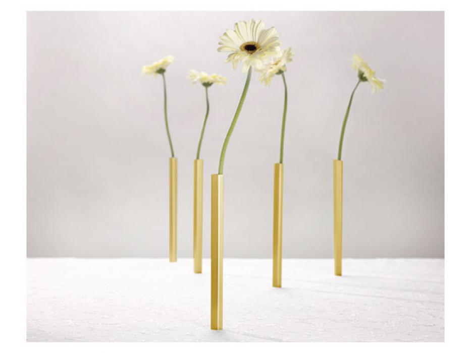 Buy Magenetic Illusion Bud Vase Set of 5, Gold tone, Peleg Designs