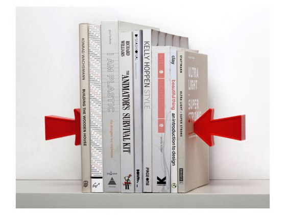 Bookends for recipe bookshelf