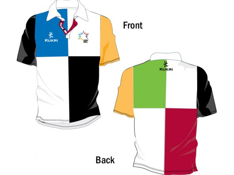 Mens Checkered Rugby Shirt for 2011 European Maccabi