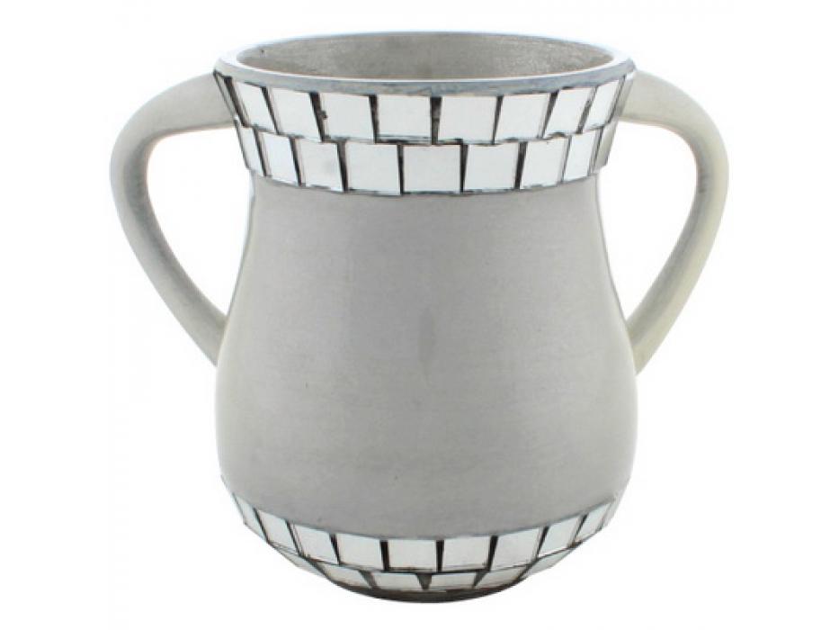 Mirror Mozaic on Aluminum Elegant Washing Cup