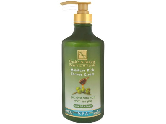 Moisture-Rich Olive Oil and Honey Aromatherapy Shower Gel with Dead Sea Minerals