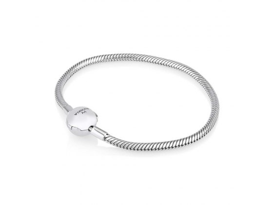 Marina Jewelry Sterling Silver Snake Chain Charm Bracelet With Ball Clasp