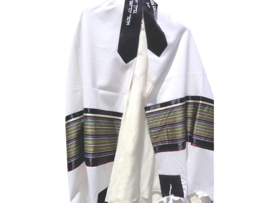 Multicolor Tallit Prayer Shawl by Galilee Silks
