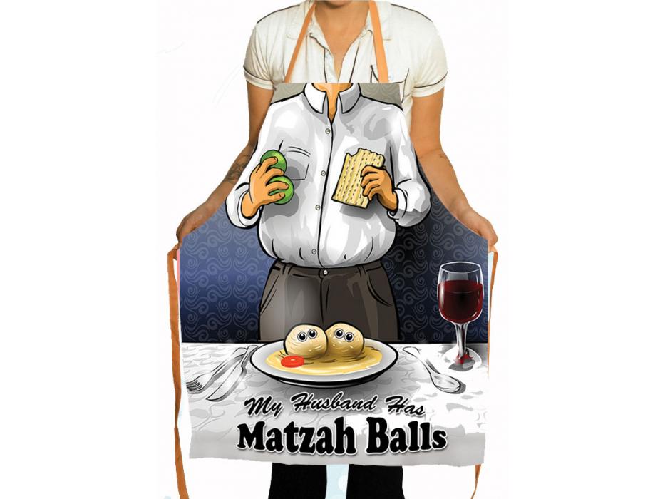 My Husband has Matzah Balls, Jewish Apron