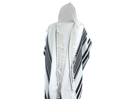 Netted Yemenite Mishkan Hatchelet Tallit Prayer Shawl