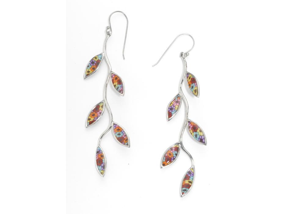 Olive Branch Silver Earrings - Adina Plastelina
