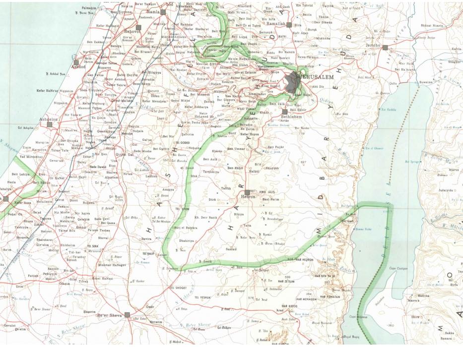 Israel 1967 Border Map