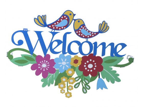 Dorit Judaica Wall Hanging English Welcome Sign