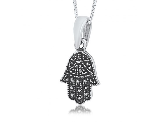 Trendy Turquoise Hamsa Necklace