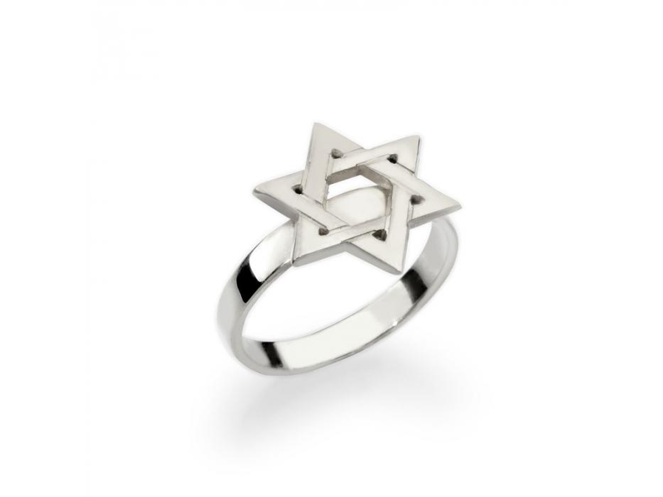 Custom Star of David Hebrew Name Ring
