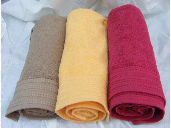 Buy Pinat Eden Embroidered Bath Towels - 480g in Cocoa Brown, Orange, Bordeaux