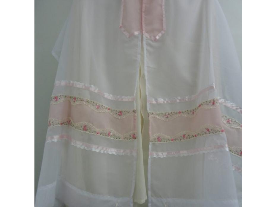 Pink Ribbon Floral Embroidry Tallit Prayer Shawl by Galilee Silks