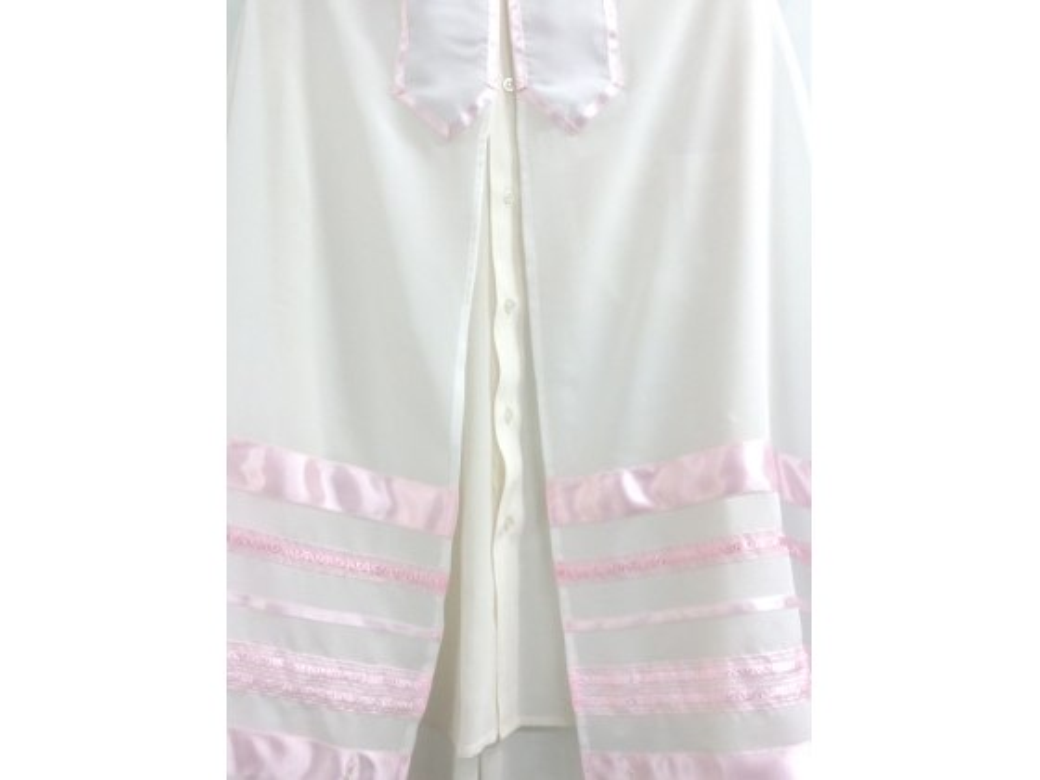 Pink Striped Tallit Prayer Shawl by Galilee Silks