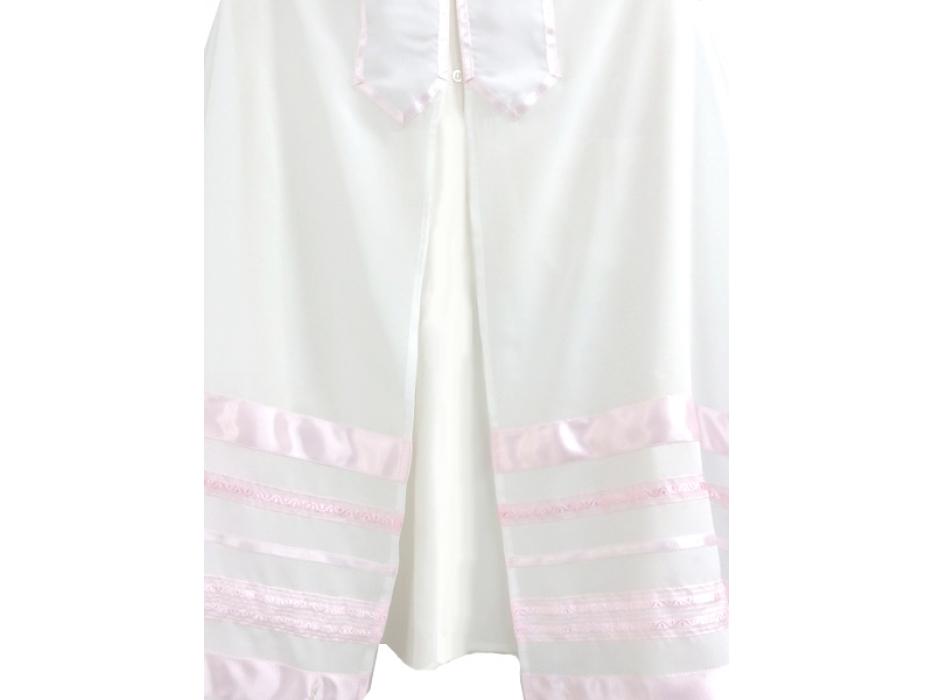 Galilee Silks Pink Stripes Tallit Prayer Shawl