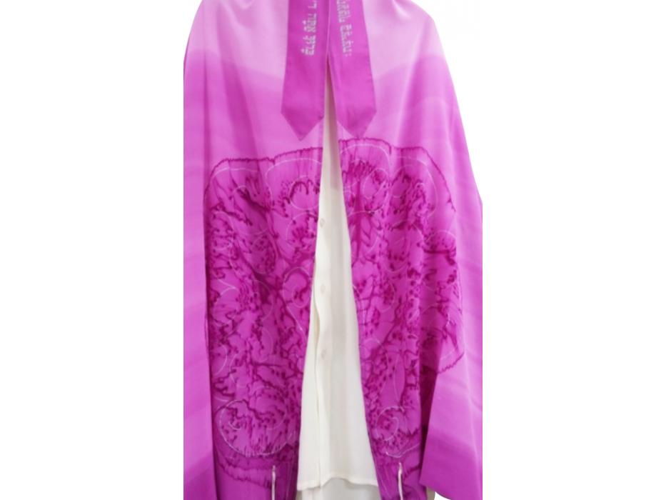 Galilee Silks Pink Tree Tallit Prayer Shawl