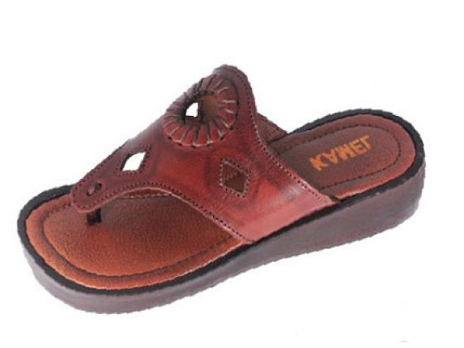 Platform Leather Biblical Slip-on Sandals