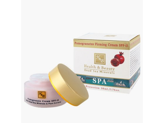 Pomegranate Firming Face and Neck Cream with Dead Sea Minerals SPF 15