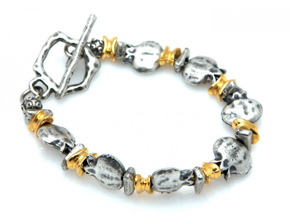 Pomegranate [Rimonim] Bead Bracelet - Anava Jewelry